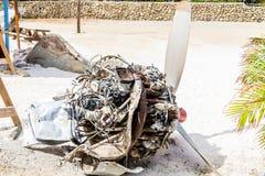 Crashed Airplane Engine Stock Photography