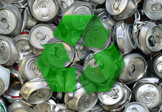 Crashed beer cans Stock Images