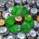 Crashed beer cans Royalty Free Stock Image