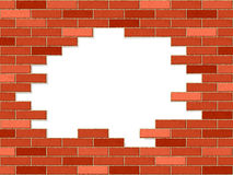 Crashed brick wall Stock Photos