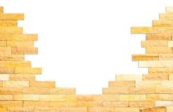 Crashed brick wall texture Royalty Free Stock Photos
