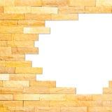 Crashed brick wall texture Stock Photos