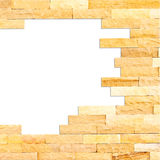 Crashed brick wall texture abstract for background with clipping Royalty Free Stock Photography