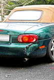 Crashed cabriolet royalty free stock images