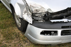 Crashed car Stock Image