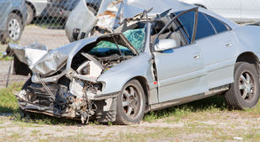 Crashed car Royalty Free Stock Images