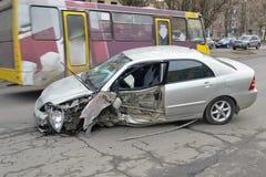 A crashed car Stock Photography