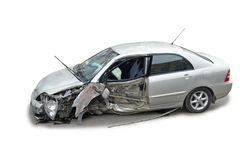 A crashed car royalty free stock image