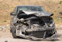 Crashed car Royalty Free Stock Photo