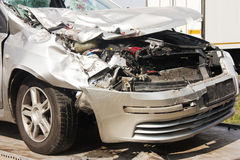 Crashed car after accident Royalty Free Stock Photography