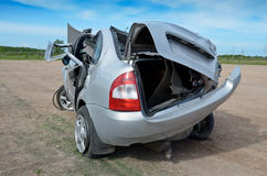 Crashed car Royalty Free Stock Photos