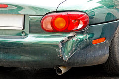Crashed car bumper Royalty Free Stock Image
