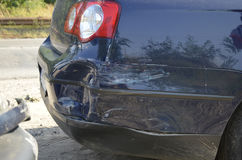 Crashed car bumper Royalty Free Stock Photography