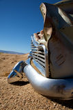 Crashed car in the desert Royalty Free Stock Photography