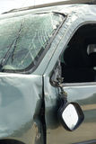 Crashed car detail. On rear mirror royalty free stock images