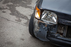 Crashed car headlight detail stock images