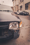 Crashed car headlight detail Royalty Free Stock Image