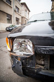 Crashed car headlight detail Royalty Free Stock Photo