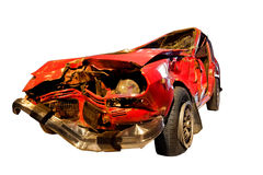 Crashed Car Isolated Stock Image