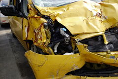 Crashed car. From serious accident Stock Image