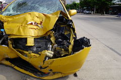 Crashed car. From serious accident Royalty Free Stock Image