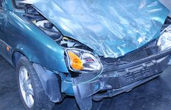 Crashed Car. Royalty Free Stock Photo