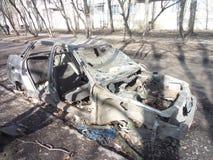 Crashed car. In Voronezh royalty free stock image