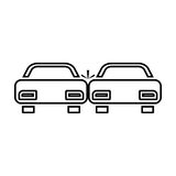 Crashed cars black color icon . Royalty Free Stock Photography