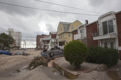 Crashed cars after Hurricane Sandy Stock Photos