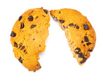 Crashed Chocolate Cookies Royalty Free Stock Images