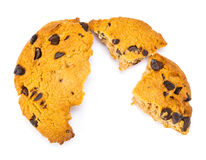Crashed Chocolate Cookies Stock Photo