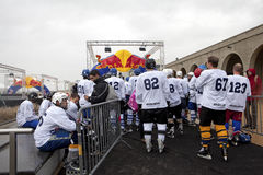 Crashed Ice competitors, Belgium Royalty Free Stock Photo
