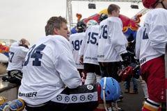Crashed Ice competitors, Belgium Royalty Free Stock Photos