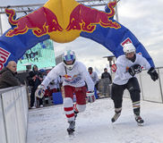 Crashed Ice competitors, Belgium Stock Image