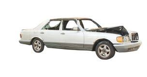 Crashed luxury sedan stock photos