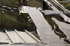 Crashed military airplane Royalty Free Stock Photo
