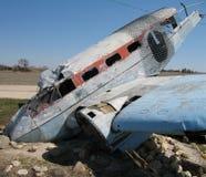 crashed plane Στοκ εικόνα με δικαίωμα ελεύθερης χρήσης
