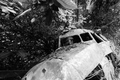 crashed plane cockpit royalty free stock photo