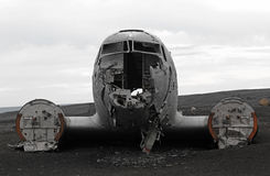 Crashed plane front Royalty Free Stock Photography