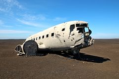 Free Crashed Plane In Iceland Royalty Free Stock Image - 97354186