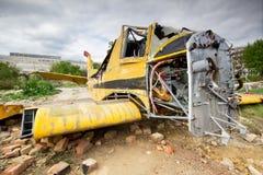 Crashed plane Royalty Free Stock Image