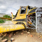 Crashed plane Royalty Free Stock Photos