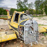 Crashed plane Stock Photo