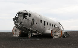 Crashed plane Stock Images