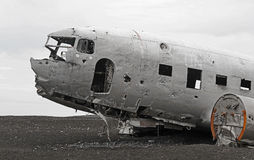 Crashed plane side closeup Stock Images