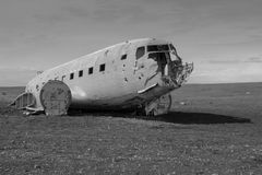 Crashed Plane. A crashed plane in south Iceland. Just off the coast Royalty Free Stock Photography