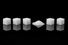 Crashed sugar cube Royalty Free Stock Photo