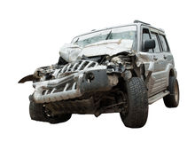 Crashed - a totaled SUV Royalty Free Stock Images