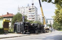 Crashed truck Stock Photo