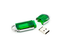 Crashed usb flash memory Stock Image